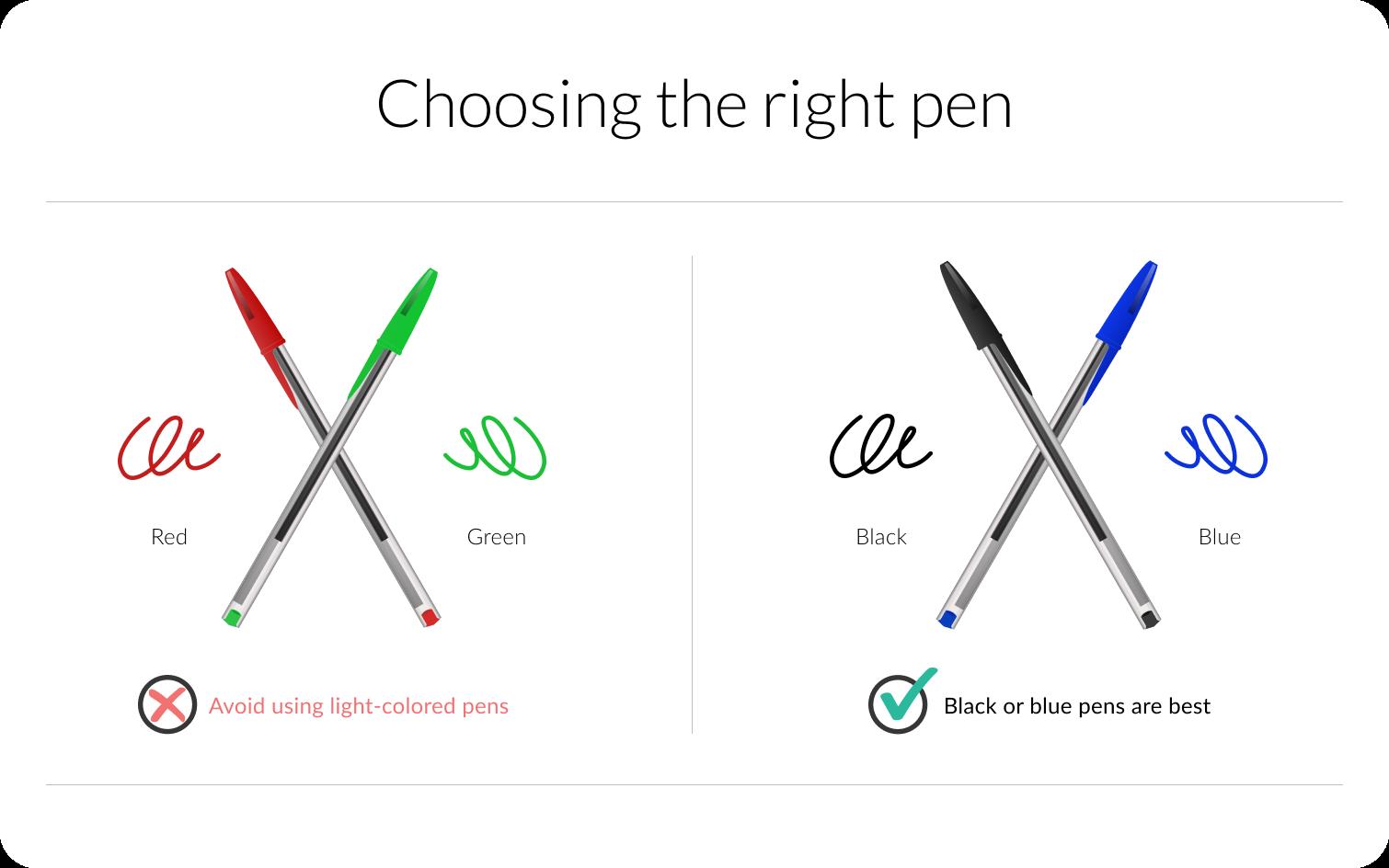 Choosing the right pen