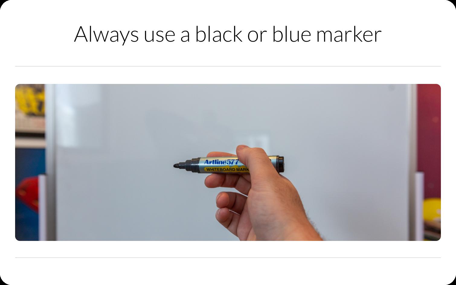 Black or Blue Marker