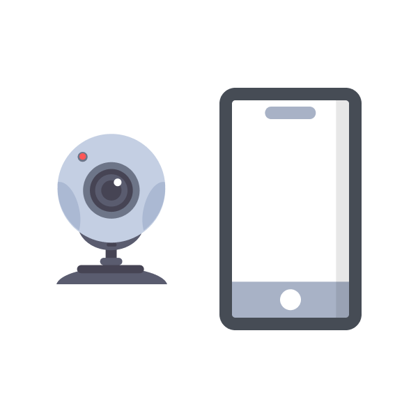 webcam and mobile